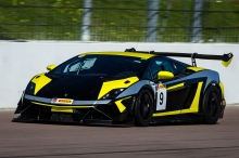 #9 Mark Radcliffe and Kevin Clarke - Lamborghini Supertrofeo - competing in the opening round of the Endurance Racing Series held at Rockingham Circuit Corby Northamptonshire England. 18th April 2015. Photo: Dave Ayres - Picturesports
