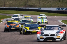 #55 Ian Lawson / Anthony Wilds / Mike Wilds - BMW Z4 GT3 - competing in the opening round of the Endurance Racing Series and 360 Allcomers Series held at Rockingham Circuit Corby Northamptonshire England. 18th April 2015. Photo: Dave Ayres - Picturesports